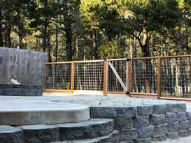 fence. wall. firepit
