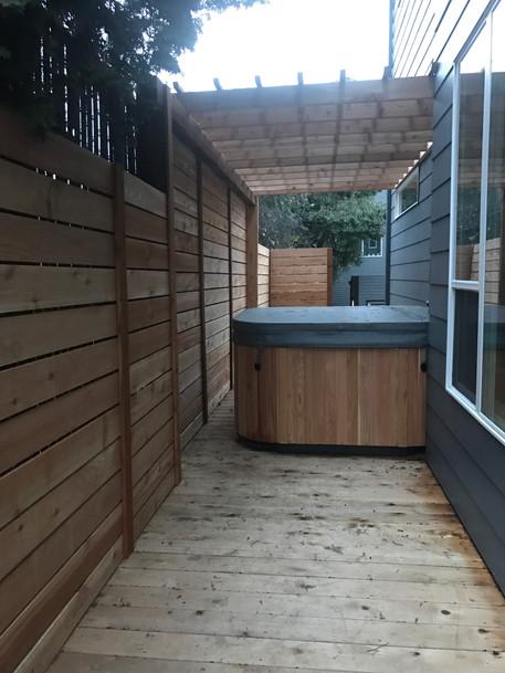 deck. fence. arbor