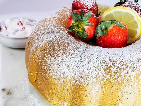 Gluten-Free Pandan Lemon Chiffon Cake
