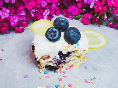 Confetti Lemon Blueberry Zucchini Cupcakes