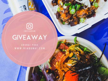 Abunai Poke Instagram Giveaway!