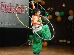 Dance performance on theme india