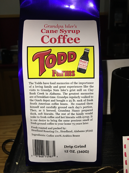 Todd's Cane Syrup Coffee