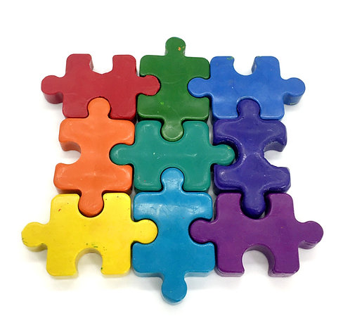 Chunky Jigsaw Crayons (9 pieces)