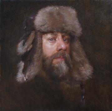 Fur Hat Self Portrait