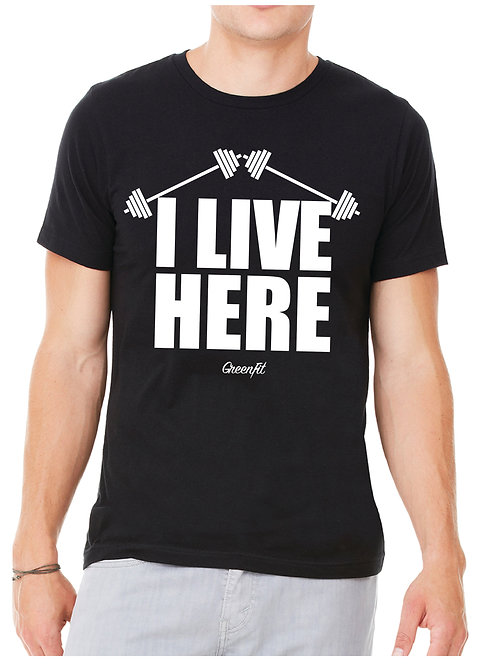 MEN'S I LIVE HERE T-SHIRT