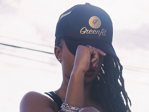 TRUCKER HAT GF LOGO + ICON - BLACK