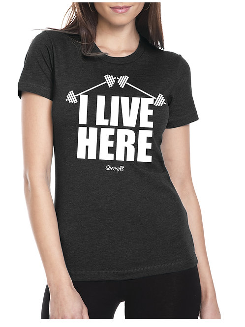 PERSONALIZE WOMEN'S I LIVE HERE T-SHIRT