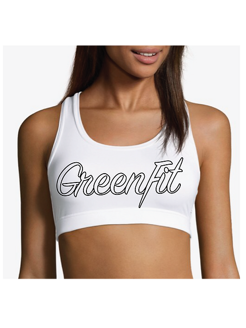 GREENFIT OUTLINED BOLD MOVES BRA