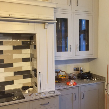 A beautiful hand-painted wooden kitchen