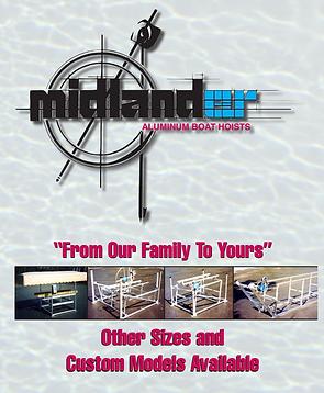 Midlander Pemium Boat Hoists Made in Michigan Vertical Cantiliver Pontoon Hoists