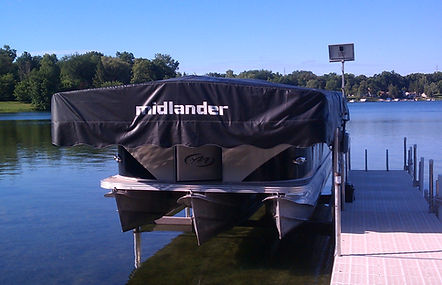 Midlander Pemium Boat Hoists Made in Michigan - Pontoon Boat Hoist - Ski Boa Hoist - Wakeboard Boat Hoist