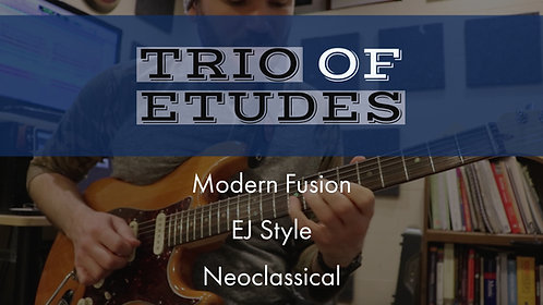 Trio of Etudes Package