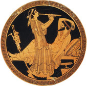 Ο Οδυσσέας και η Καλυψώ.