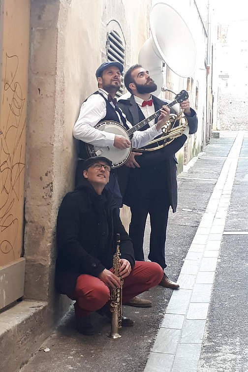 Le Trio Dakote - Fanfare New Orleans dans le Sud Ouest