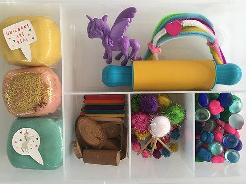 Unicorn Small World dough kit