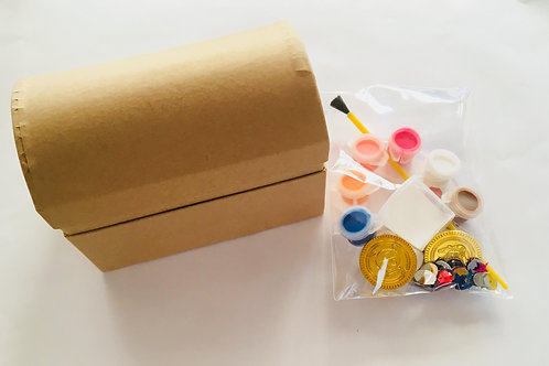 Treasure chest paint and decorate kit