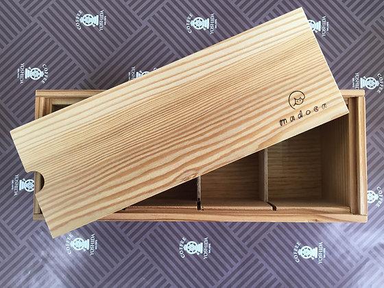 十勝糖彩 4本詰め合わせ(カラマツ木箱)