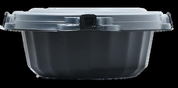 ouchide-kantan.jp 900ML おうちでかんたん画像  「おうちでかんたん」はロック機能・液漏れ防止機能付き、電子レンジ対応のテイクアウト&デリバリー向けのプラスチック製食品包装容器です。ラーメン向け。