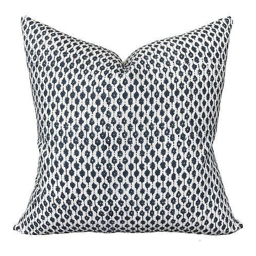 Ocean Blue Linen Pillow