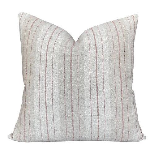 Rust Pinstripe Pillow