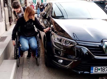 Cu scaunul cu rotile prin Timișoara
