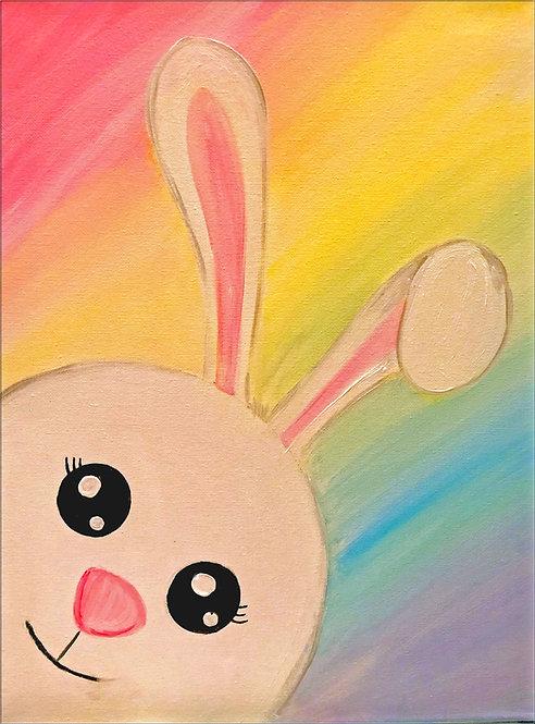 Rainbow Easter Bunny