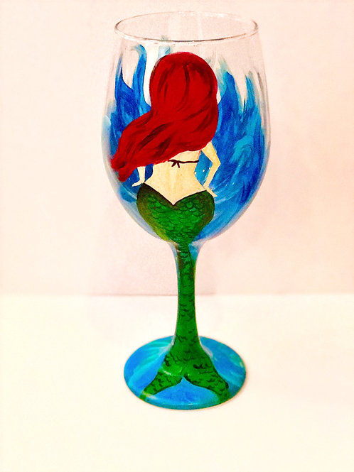 Ariel Mermaid - Wine Glass