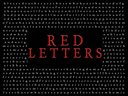 RED LETTERS Week-8