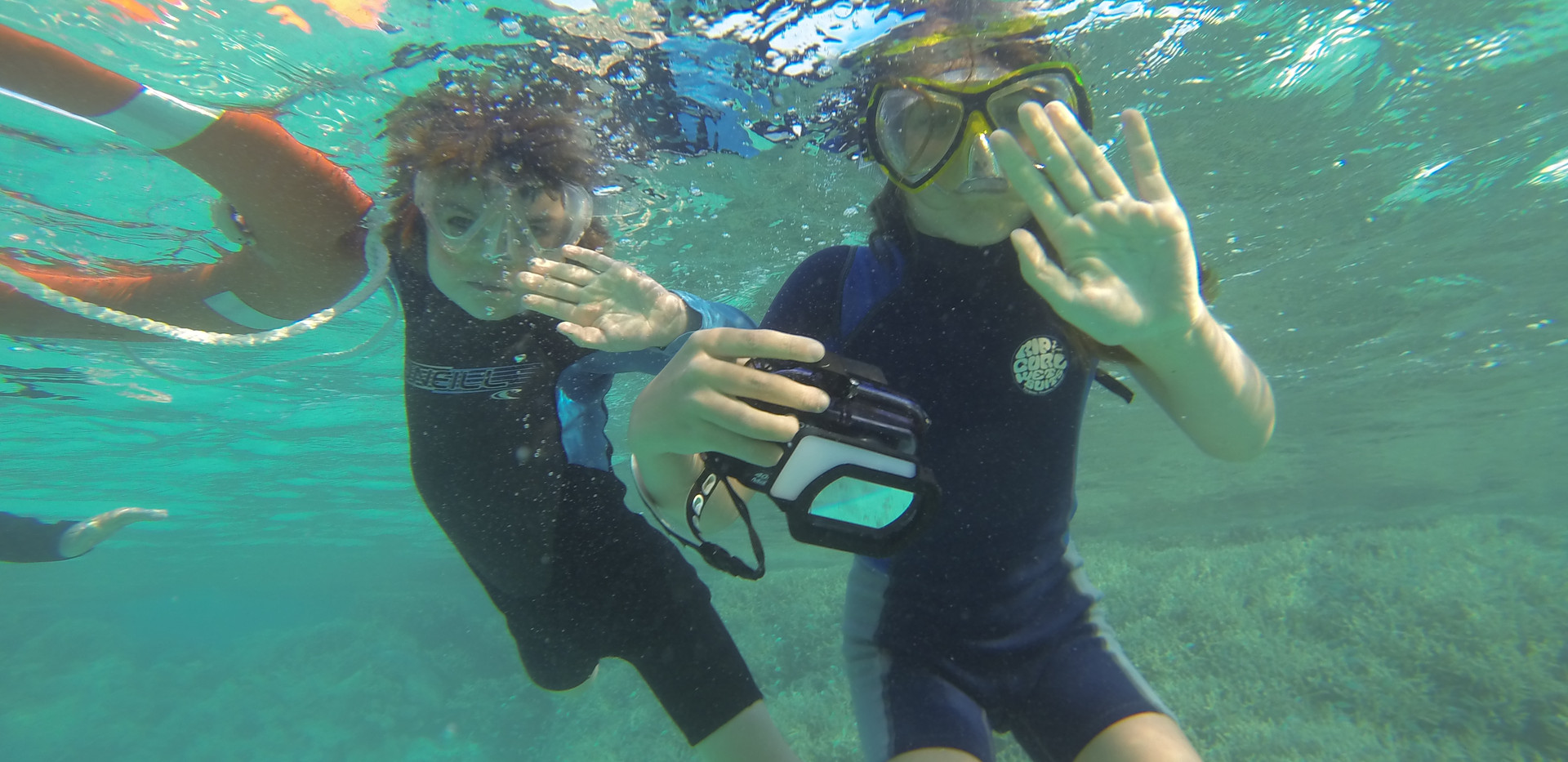 Snorkelling with the family