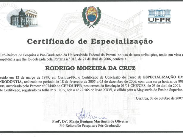 Certificado UFPR