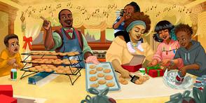Family Cooking Scene [Spread]