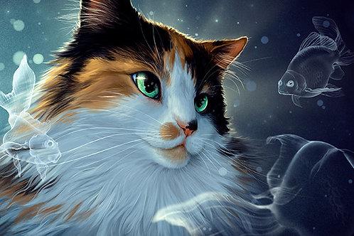 Illustrative Pet Portrait