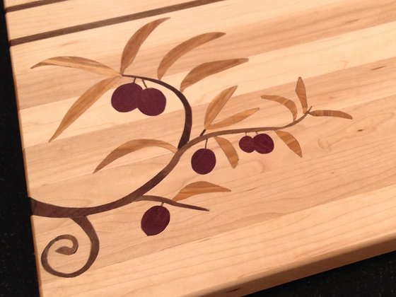Olive Branch Inlay (board not included)