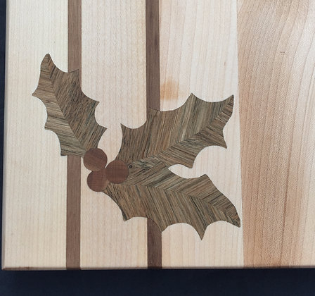 Holly Sprig Inlay (board not included)