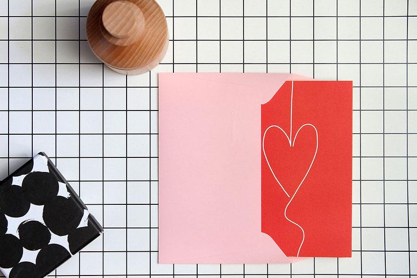 Carte double - Fil coeur