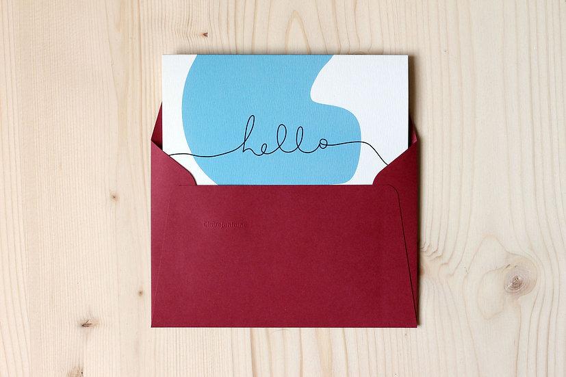 Carte double - Hello