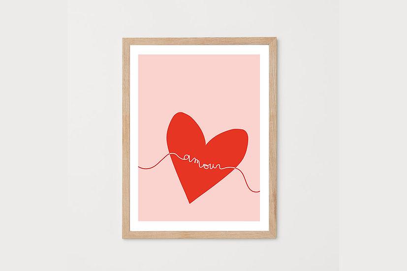 Affiche A3_Coeur texte amour