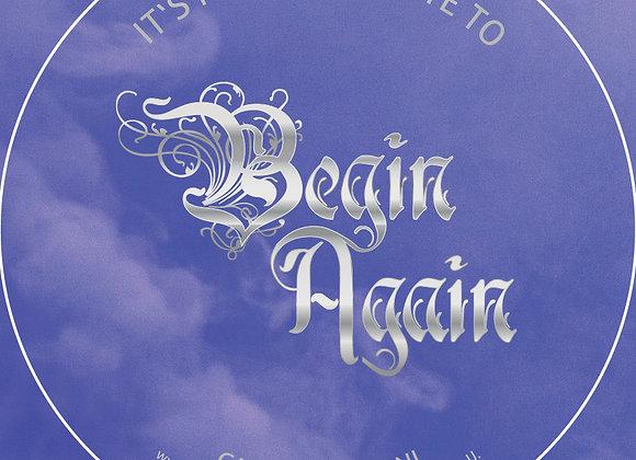 """Sticker """"Begin Again"""""""
