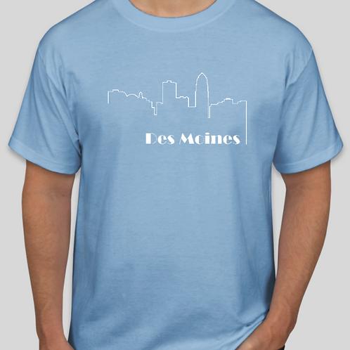 Des Moines Outline T Shirt