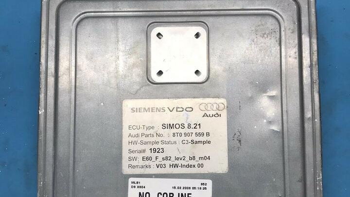 AUDI Motorsteuergerät 3.2 FSI 8T0907559B Simos 8.21