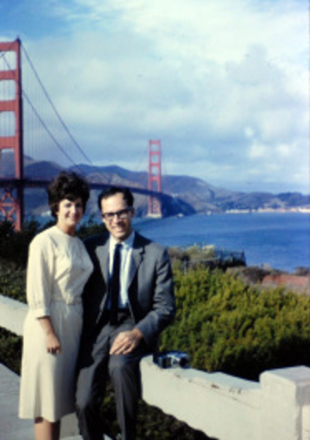 mom and dad and the bridge