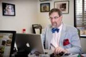 chemist with bow tie
