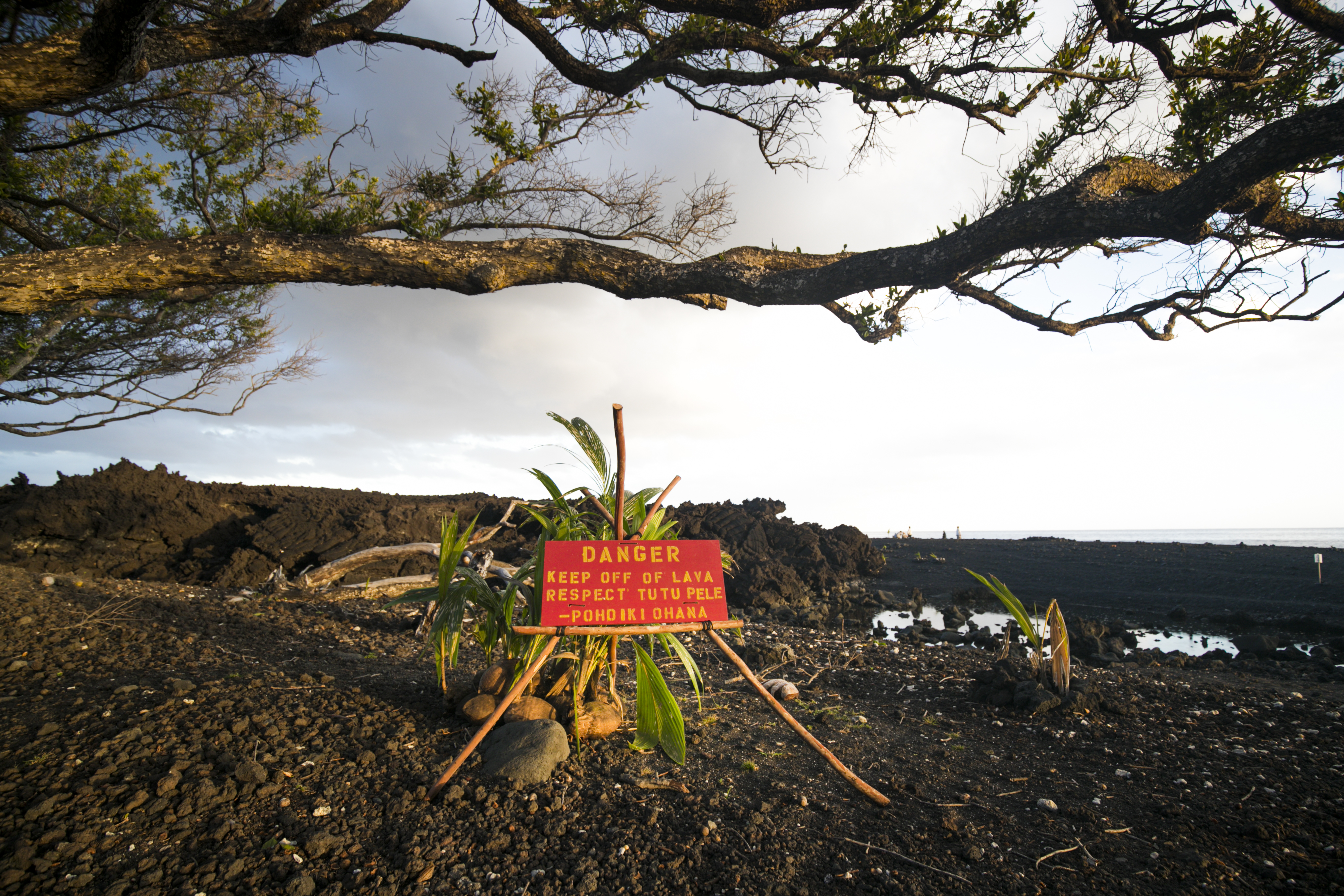 New lava beach at Pohoiki
