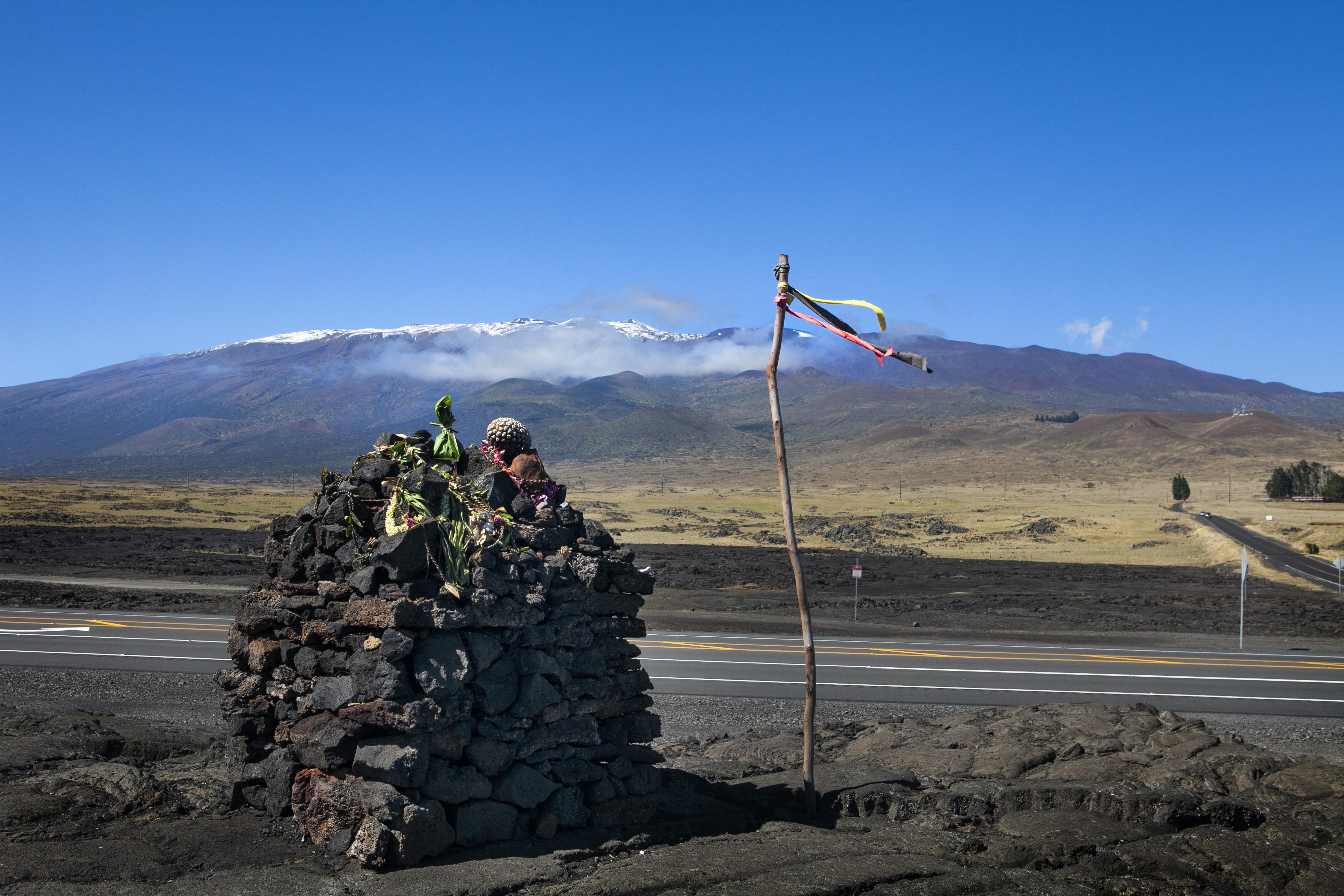 Heiau by Mauna Kea