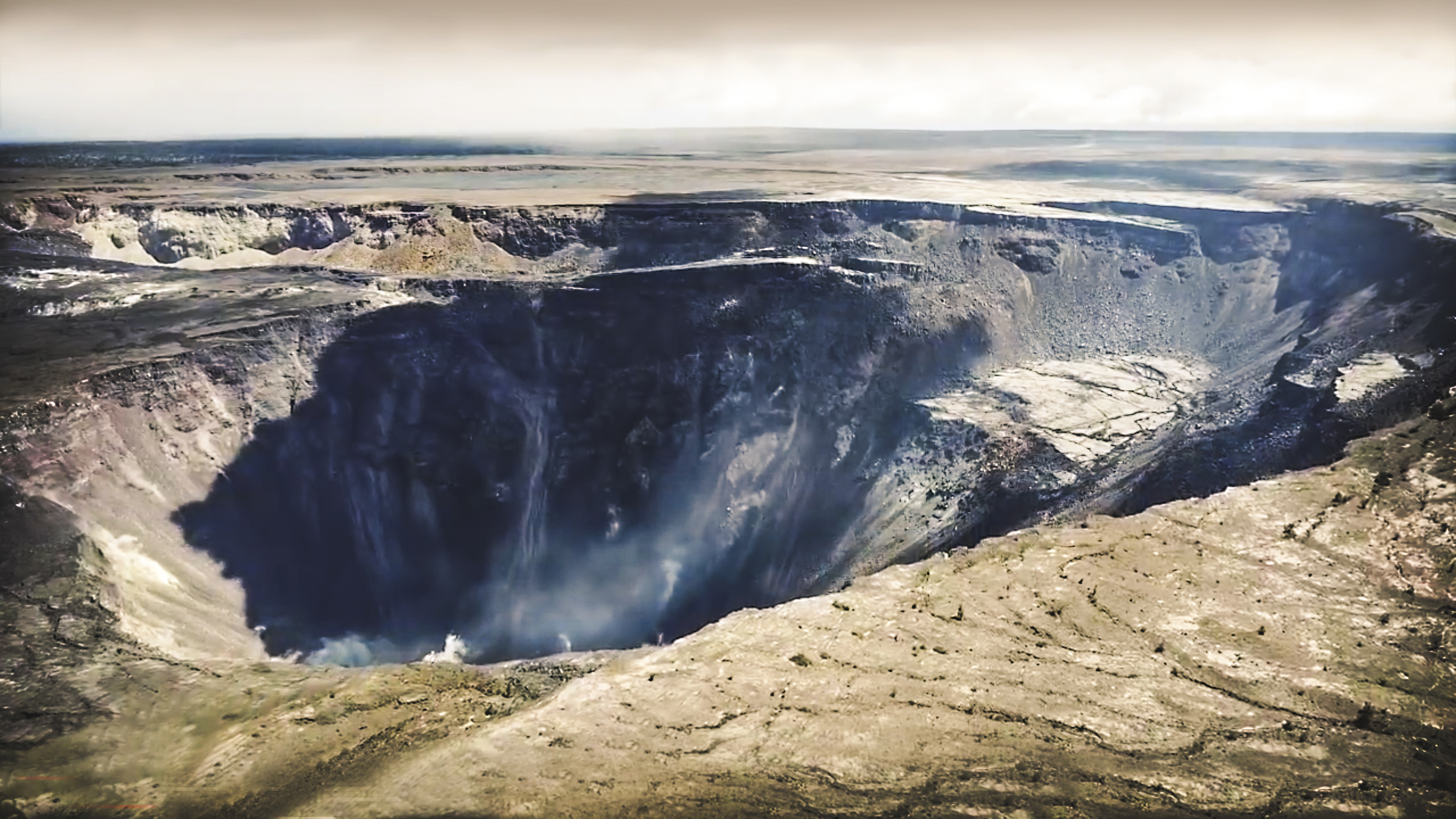 2018 Halemaumau collapsed Crater