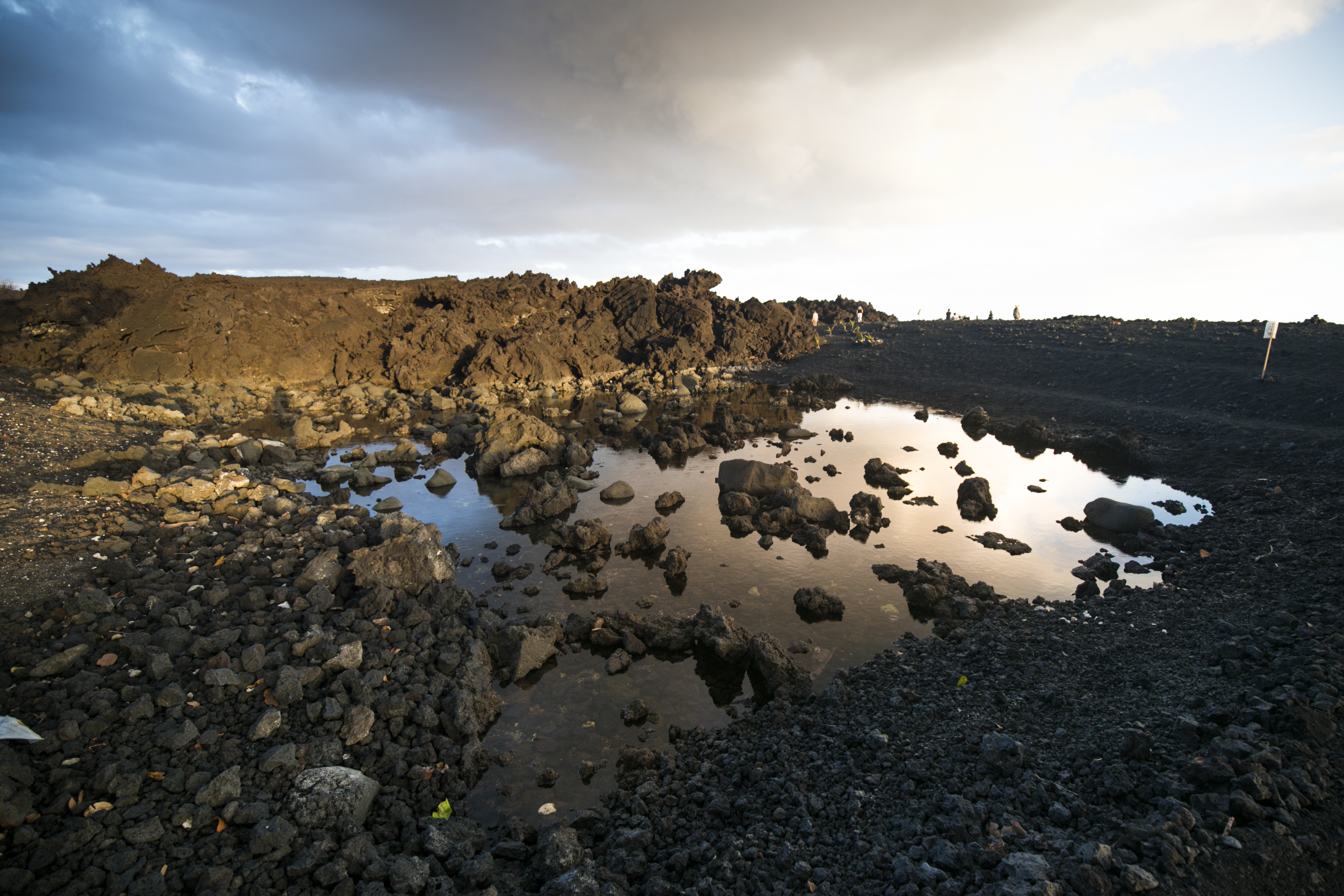2018 Lava wall on the distance