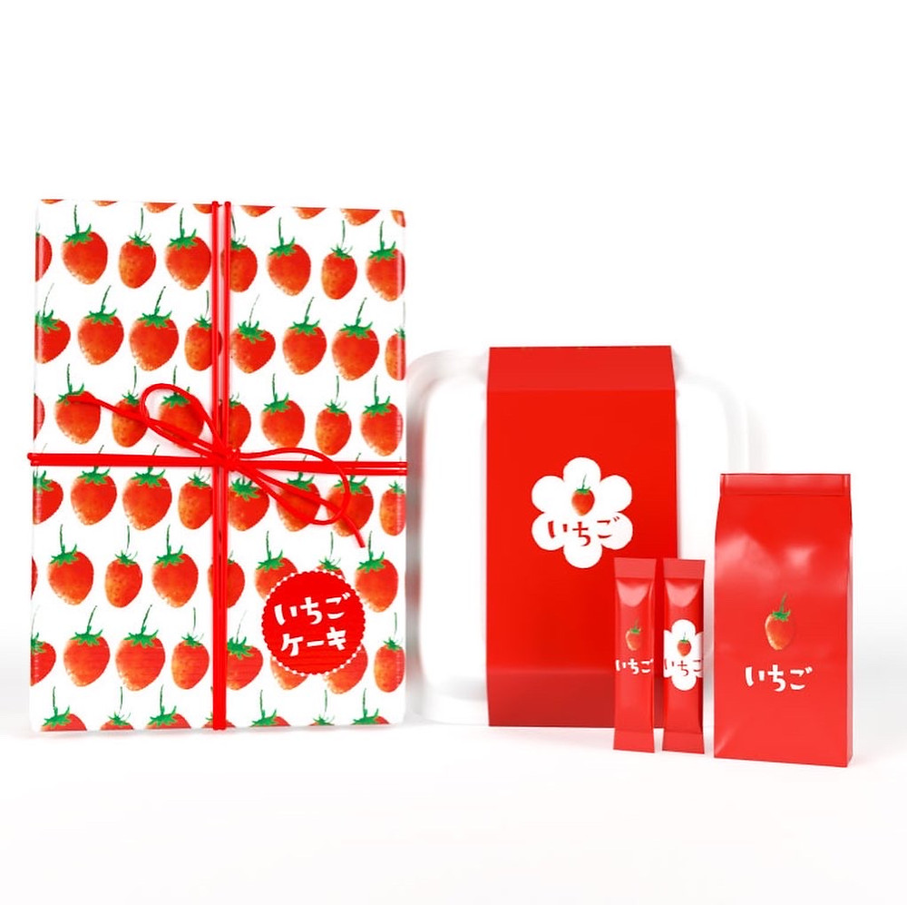 strawberry package design