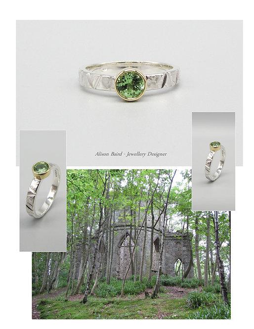 Hidden Folly Tsavorite ring