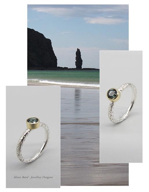 Sandwood Bay Sapphire ring